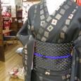 トランプ柄の着物と半幅帯☆