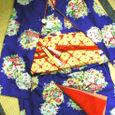 花文の着物