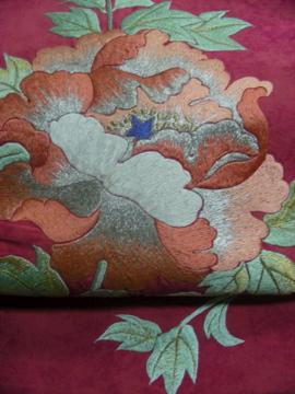 豪華な刺繍のアンティーク名古屋帯