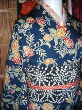 ウールの着物