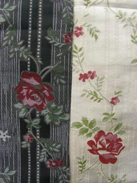 薔薇柄の半幅帯