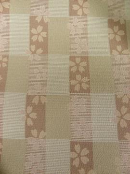 桜柄のポリエステル着物